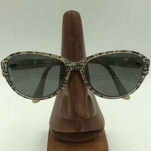 S590 White Snakeskin Oval Sunglasses Frames